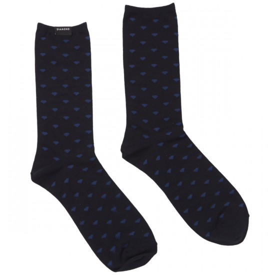Diamond Supply Co. Micro Diamond Dress Socks - Navy