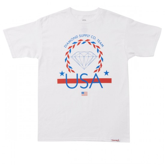 Diamond Supply Co. USA Team T-Shirt - White