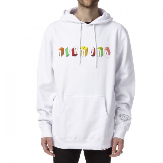 Diamond Supply Co. Diamond Blocks Hoodie - White