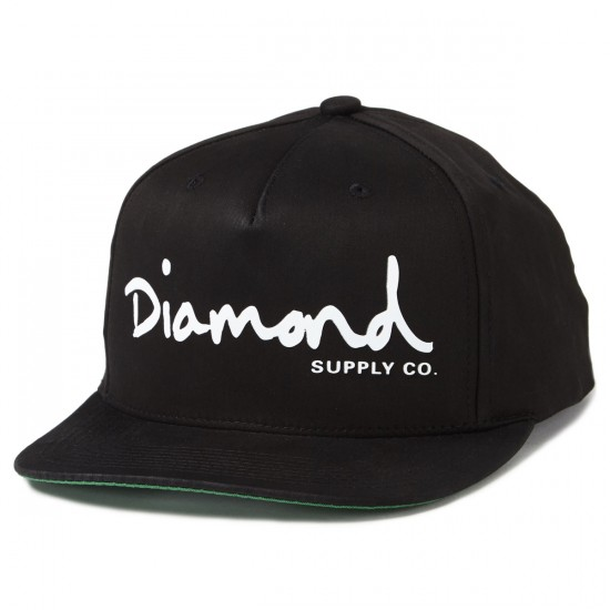 Diamond Supply Co. OG Script Snapback Hats - Black