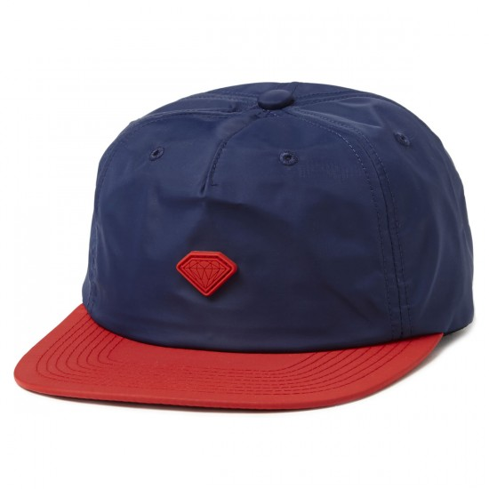 Diamond Supply Co. Yacht Clipback Hats - Navy/Red