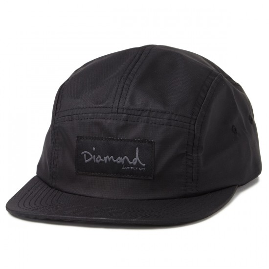 Diamond Supply Co. Porto 5 Panel Hats - Black