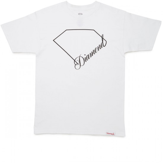 Diamond Supply Co. Linear Script T-Shirt - White