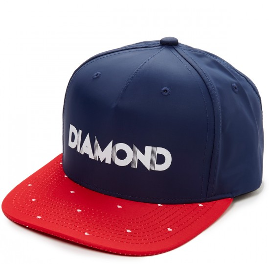 Diamond Supply Co. Deco Clipback Hat - Navy/Red
