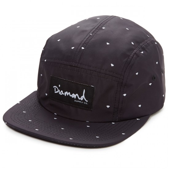 Diamond Supply Co. Deco 5 Panel Hat - Black
