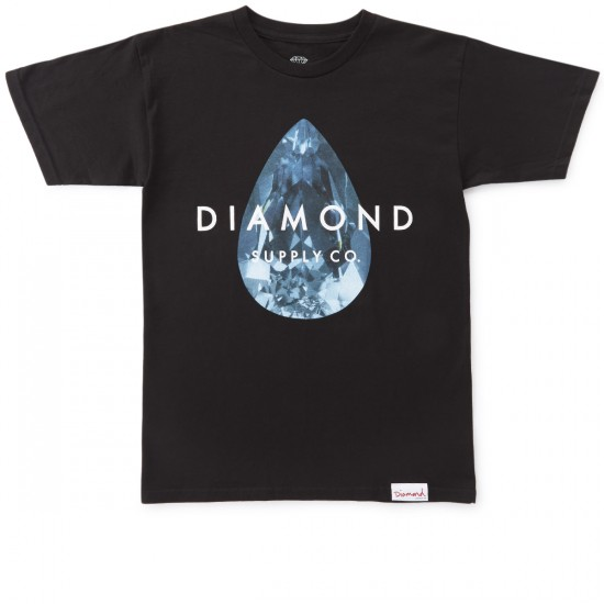 Diamond Supply Co. Teardrop T-Shirt - Black/Blue