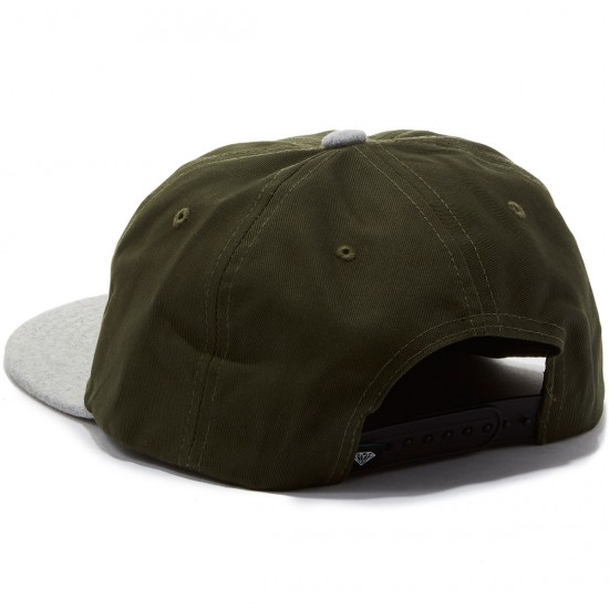 Diamond Supply Co. Leeway Snapback Unstructured Hat - Green