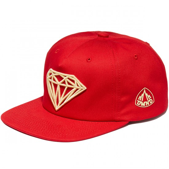 Diamond Supply Co. Brilliant Snapback Hat - Red