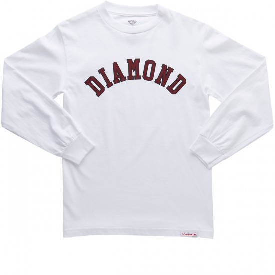 Diamond Supply Co. Diamond Arch Long Sleeve T-Shirt - White