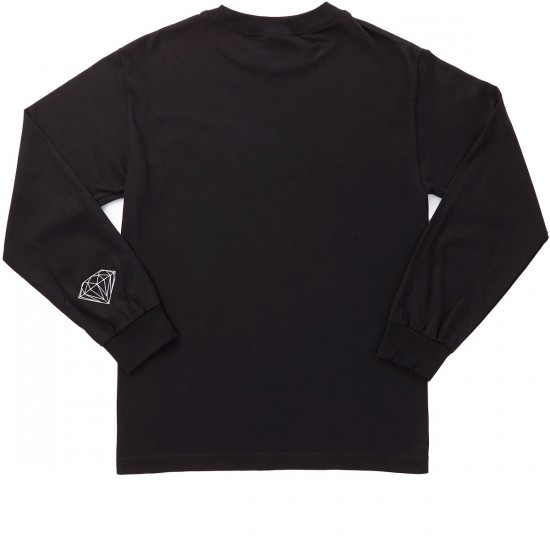 Diamond Supply Co. Champagne Long Sleeve T-Shirt - Black