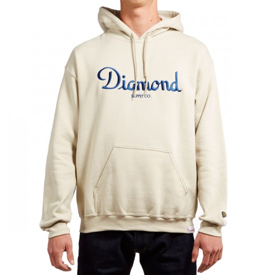 Diamond Supply Co. Champagne Embroidery Hoodie - Cream