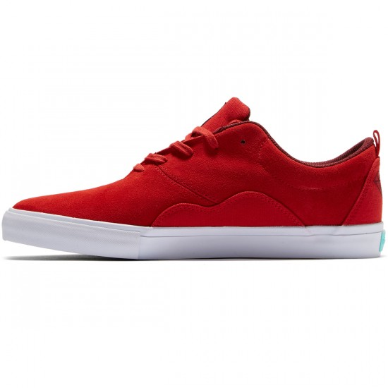 Diamond Supply Co. Lafayette Shoes - Red Suede - 8.0