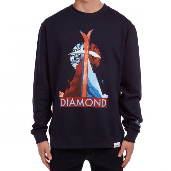 Diamond Supply Co. Peak Crewneck Sweatshirt - Navy