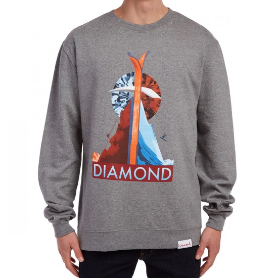 Diamond Supply Co. Peak Crewneck Sweatshirt - Gunmetal Heather