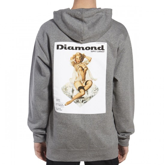 Diamond Supply Co. Centerfold Hoodie - Gunmetal Heather