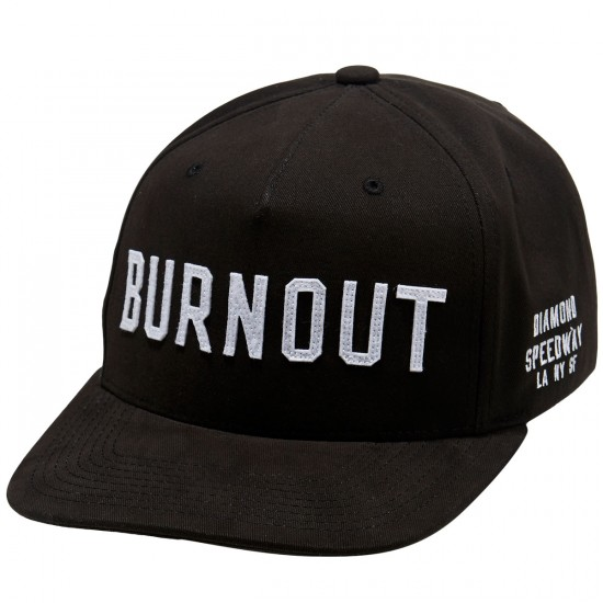 Diamond Supply Co. Burnout Snapback Hat - Black