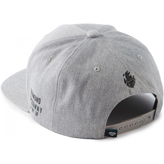 Diamond Supply Co. Burnout Snapback Hat - Heather Grey
