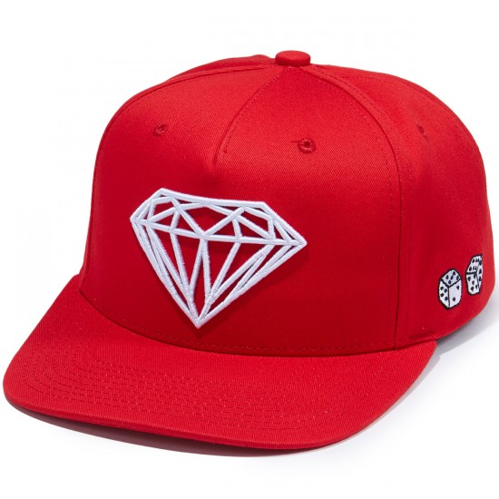 Diamond Supply Co. Brilliant Snapback SP 17 Hat - Red