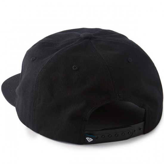 Diamond Supply Co. Crew 7 Panel Hat - Black