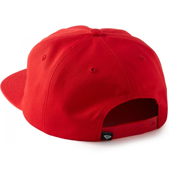 Diamond Supply Co. Essential Unconstructed Snapback Hat - Red