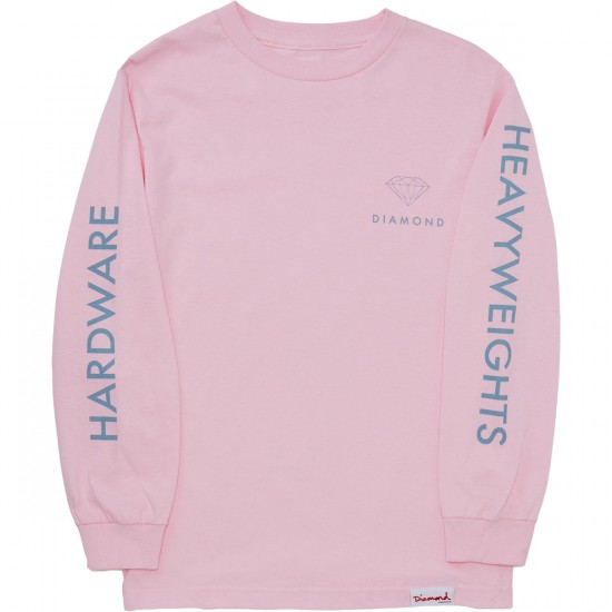 Diamond Supply Co. Futura Sign Long Sleeve T-Shirt - Pink
