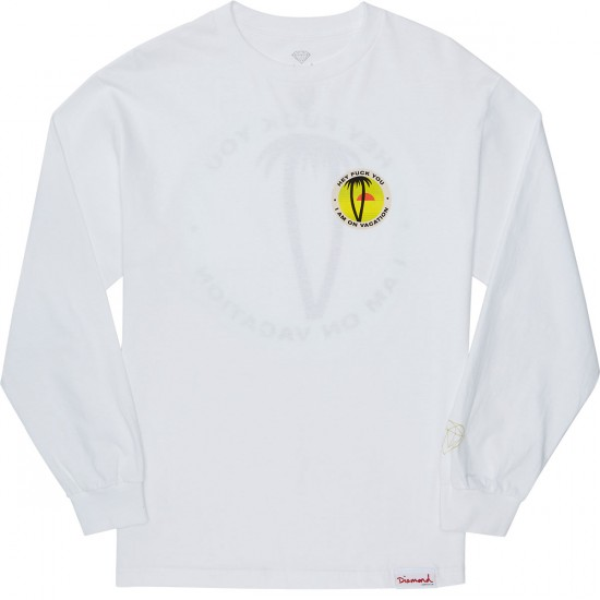Diamond Supply Co. Vacations Long Sleeve T-Shirt - White