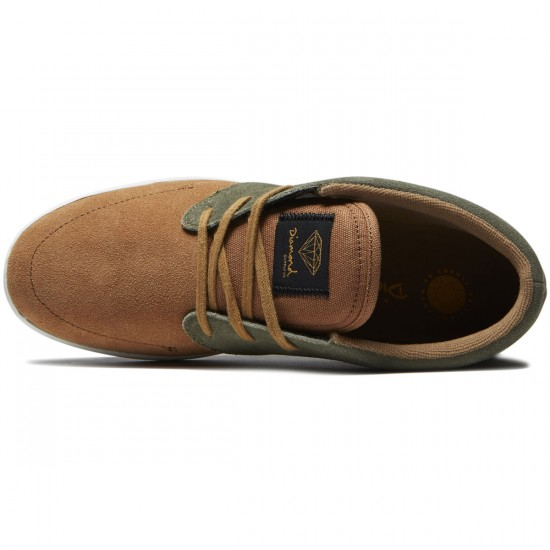 Diamond Supply Co. Deck Shoes - Brown/Green