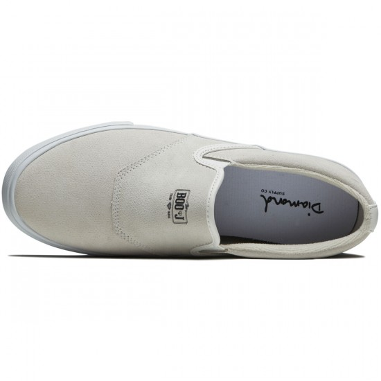 Diamond Supply Co. Boo J Shoes - White Suede - 8.0