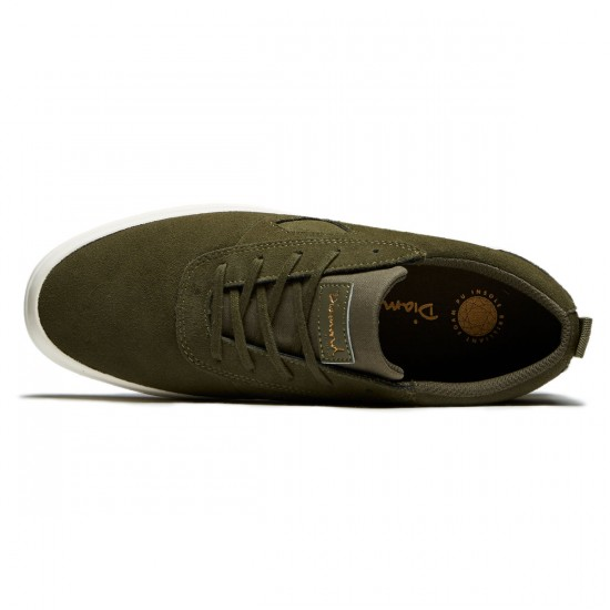 Diamond Supply Co. Icon Shoes - Olive Suede - 8.0