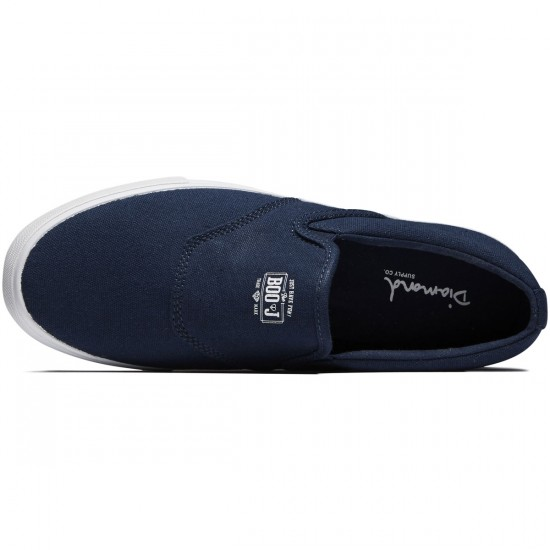 Diamond Supply Co. Boo J Shoes - Navy Canvas - 8.0