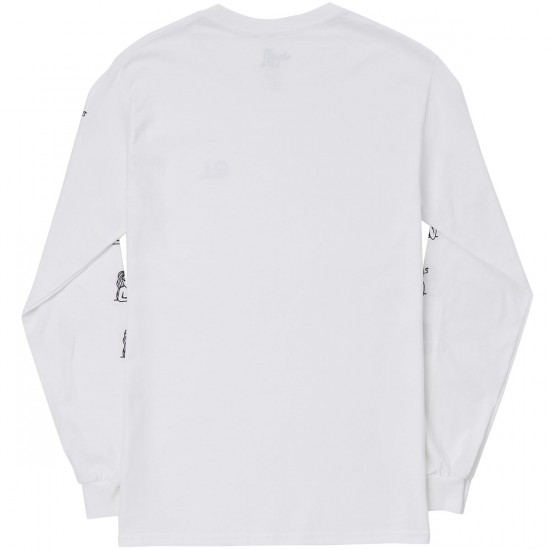 The Quiet Life Smoking Girl Long Sleeve T-Shirt - White