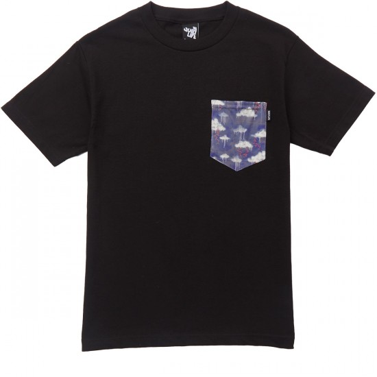 The Quiet Life Stormy Pocket T-Shirt - Black