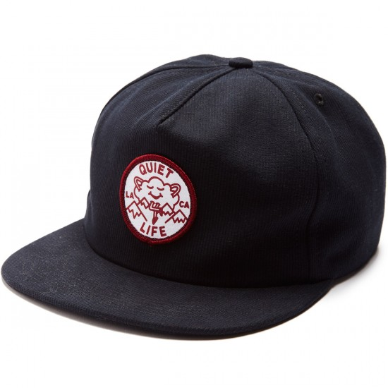 The Quiet Life Cloudy Unstructured Hat - Black