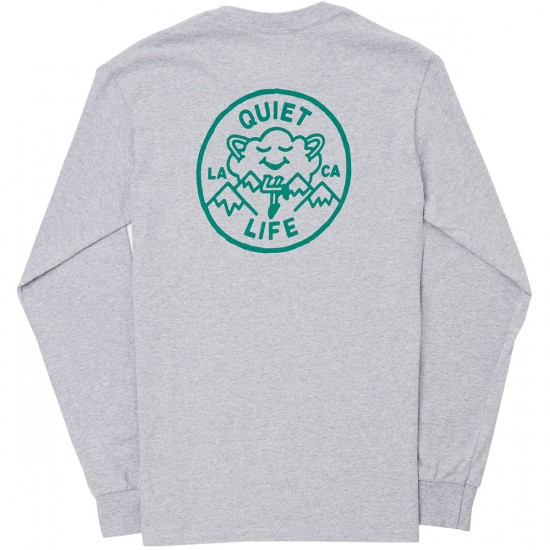 The Quiet Life Cloudy Long Sleeve T-Shirt - Heather Grey