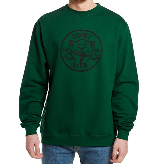 The Quiet Life Cloudy Crewneck Sweatshirt - Forest Green