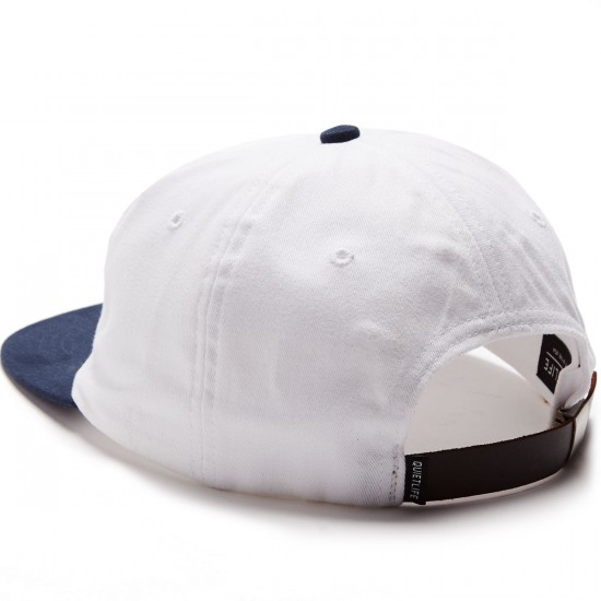 The Quiet Life Camera Club Polo Hat - White/Navy