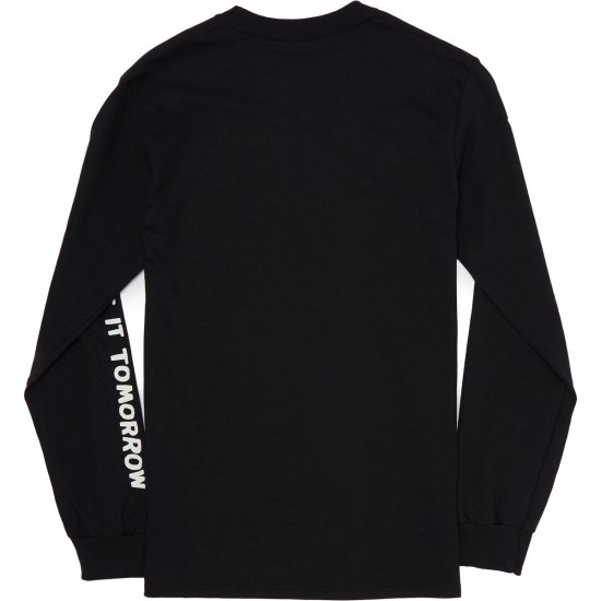 The Quiet Life Worry Long Sleeve T-Shirt - Black