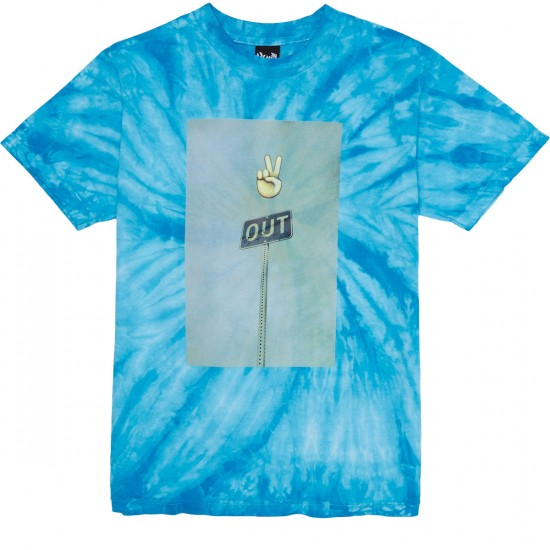 The Quiet Life Peace Out T-Shirt - Tie Dye