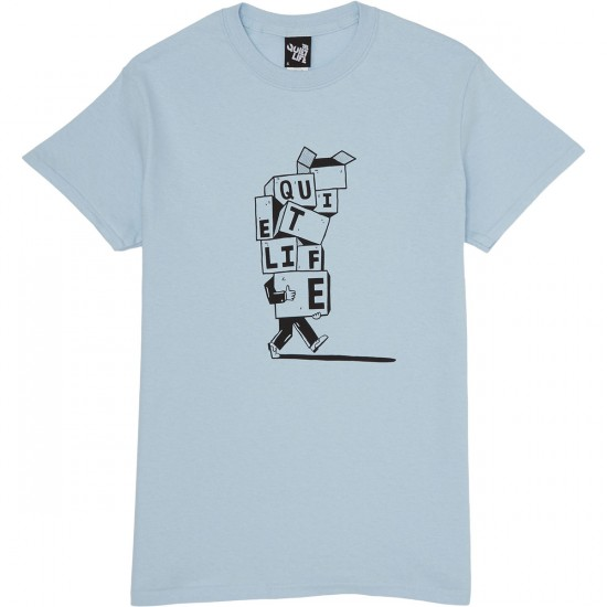 The Quiet Life Stacked Boxes T-Shirt - Light Blue