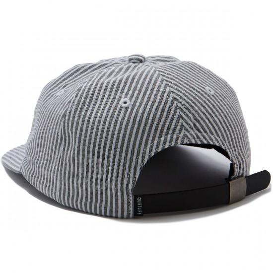 The Quiet Life Seersucker Polo Hat - Black