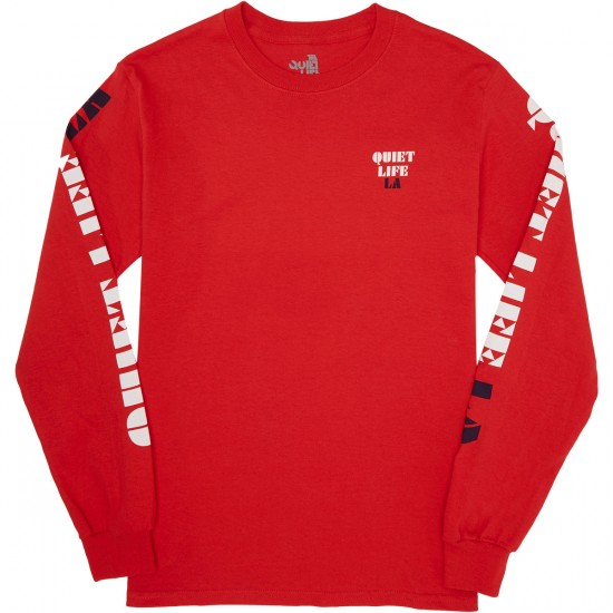 Quiet Life Zone Longsleeve T-Shirt - Red