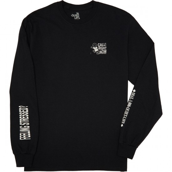 Quiet Life Stressed Out Longsleeve T-Shirt - Black