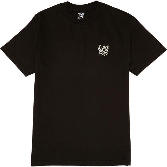 Quiet Life Aussie Script T-Shirt - Black