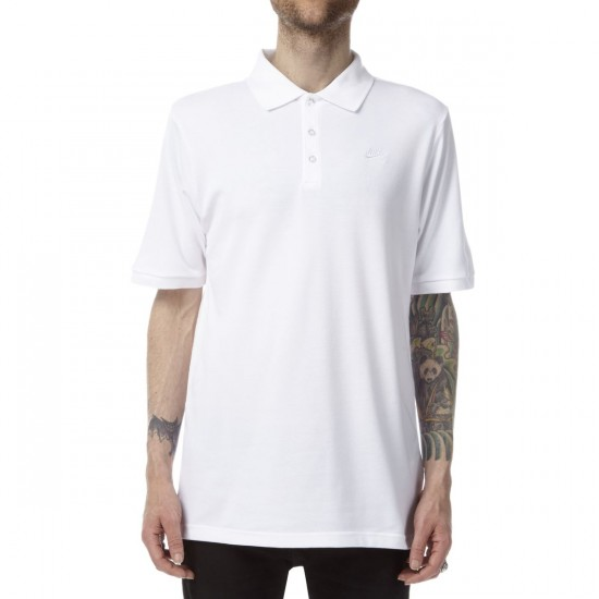 Nike SB Dri-FIT Pique Shirt - White/White