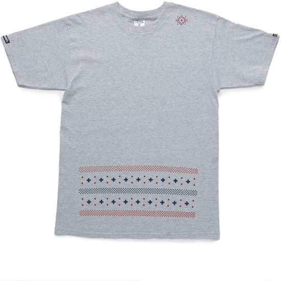 Crooks and Castles Zulu Castles T-Shirt - Heather Grey