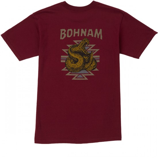 Bohnam Rattle T-Shirt - Burgundy