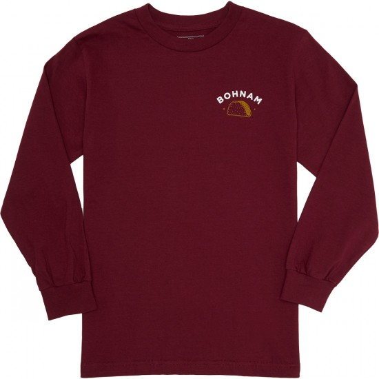 Bohnam Crispy Long Sleeve T-Shirt - Burgundy