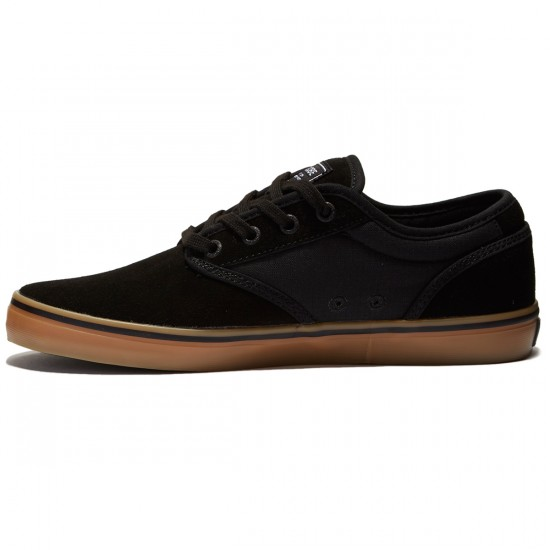 Globe Motley Shoes - Black/Black/Gum - 8.0