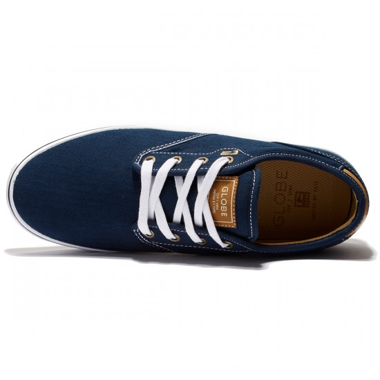 Globe Motley Shoes - Navy/White/Tan - 8.0