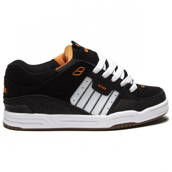 Globe Fusion Shoes - Black/White/Orange - 8.5